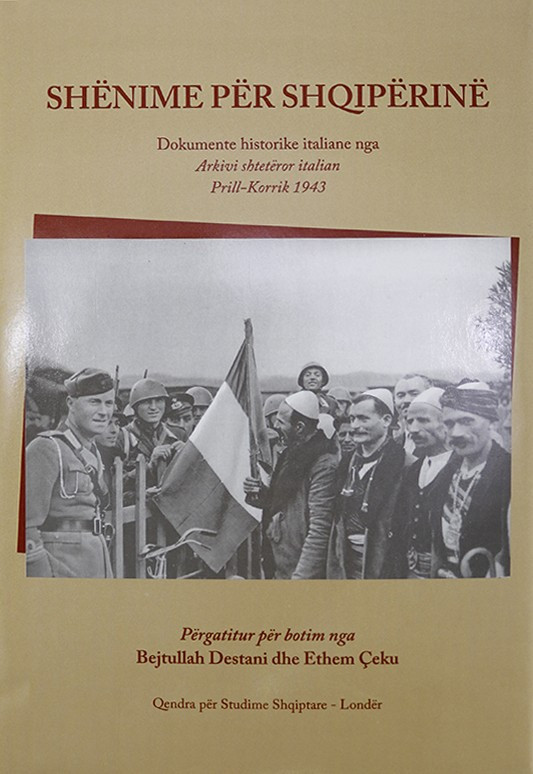 Shenime per Shqiperine, Arkiva Shteterore Italiane