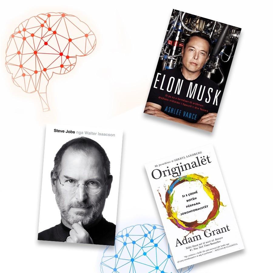 Libra dhe mendje origjinale, set me 3 libra