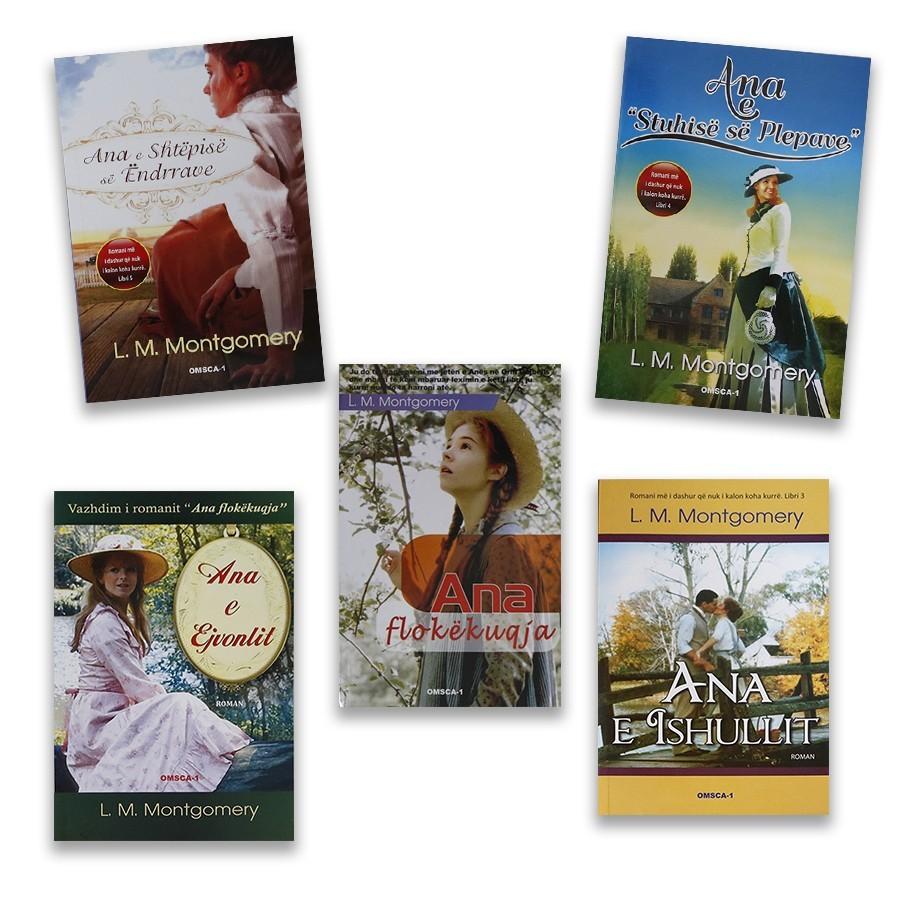 Katër librat me historitë e Ana flokëkuqes, set me 4 libra