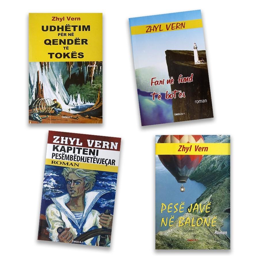 Fluturo me fantazitë e Zhyl Vernit, - set me 4 libra