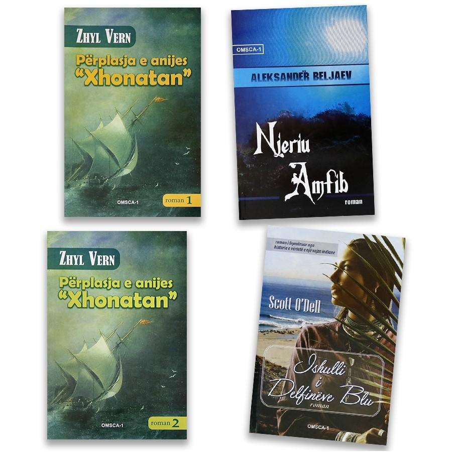 Udhëtime në mes të detit, set me 4 libra