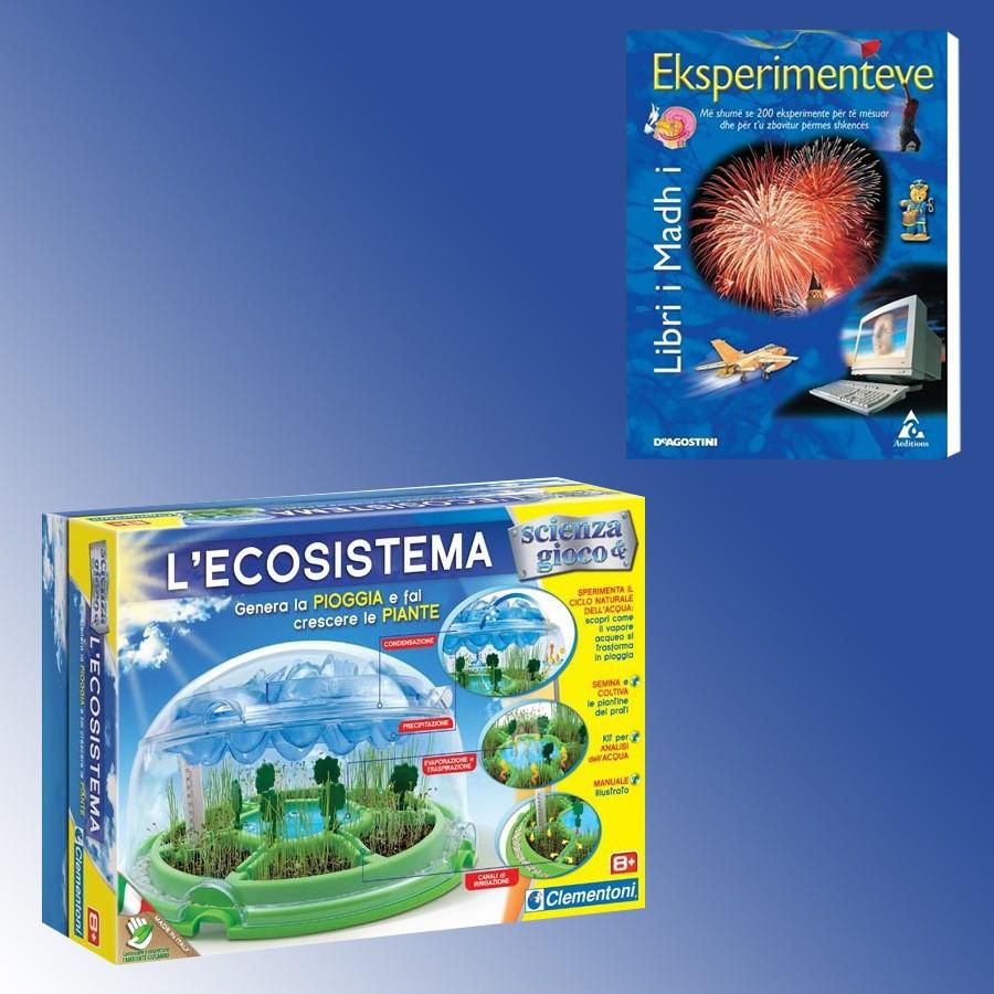 Loder L'Ecosistema Clementoni + Libri I Madh I Eksperimenteve