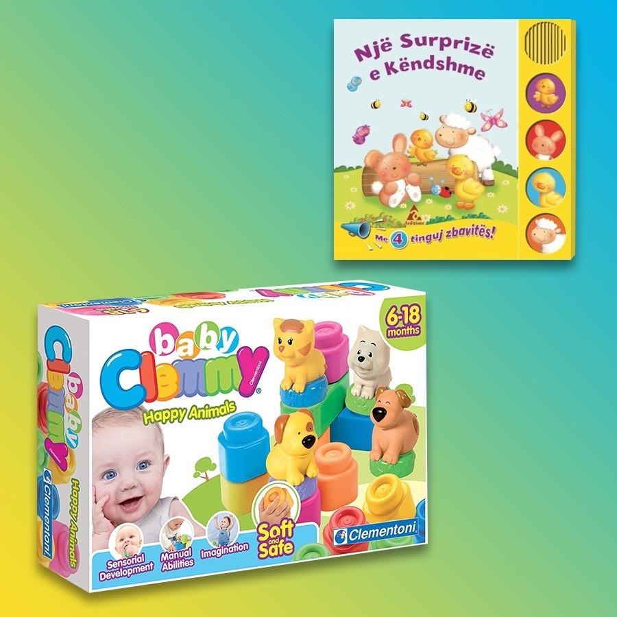Clementoni Loder Happy Animals Clemmy + Një Surprizë E Këndshme