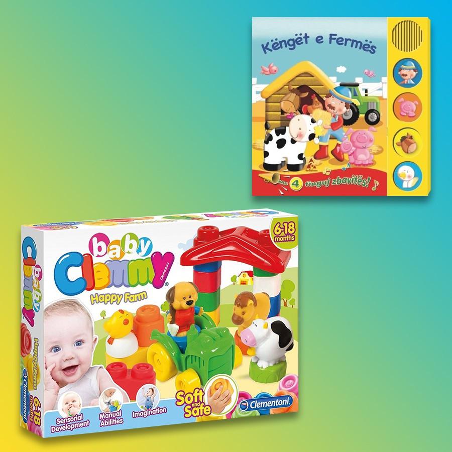 Clementoni Loder Happy Farm Baby Clemmy + Këngët E Fermës