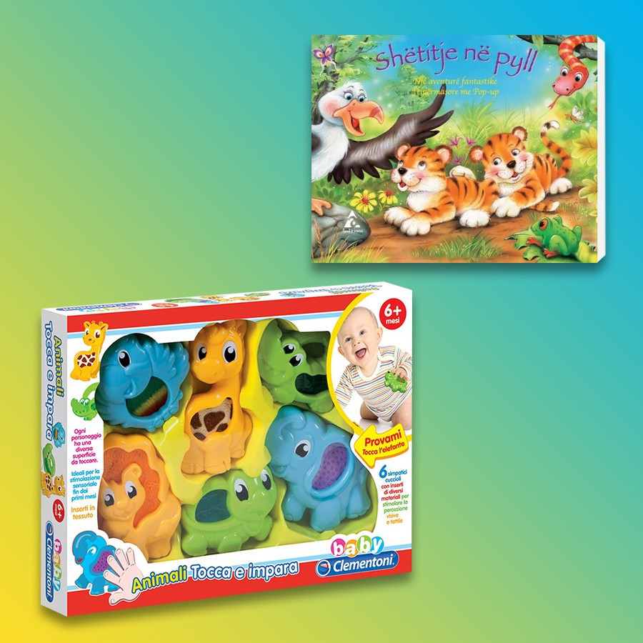 Clementoni Loder Gli Animali Tocca E Impara Baby + Shetitje Ne Pyll