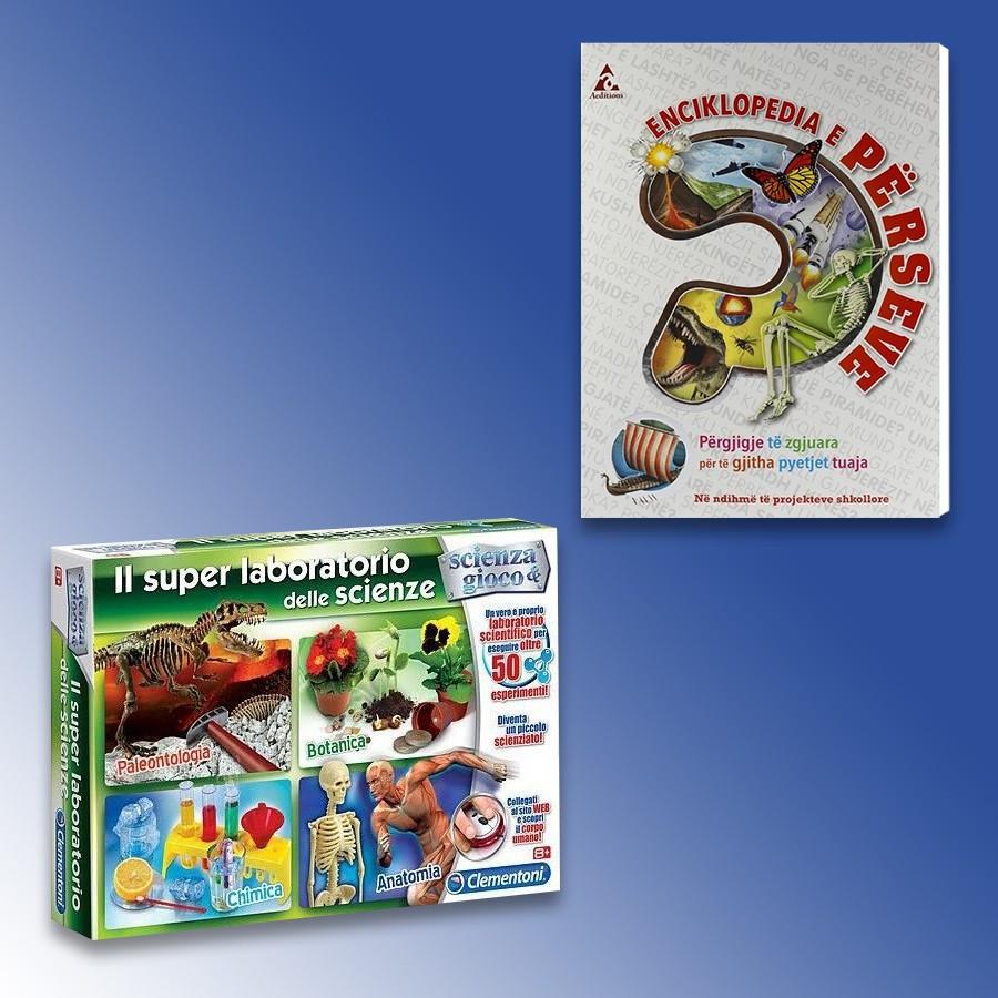 Clementoni Loder Il Super Laboratori Delle Scienze + Enciklopedi E Përseve
