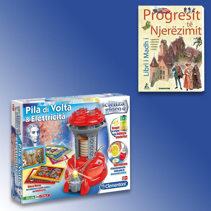 Loder Pila Di Volta & Elettricita Clementoni + Libri I Madh I Progresit Të Njerëzimit