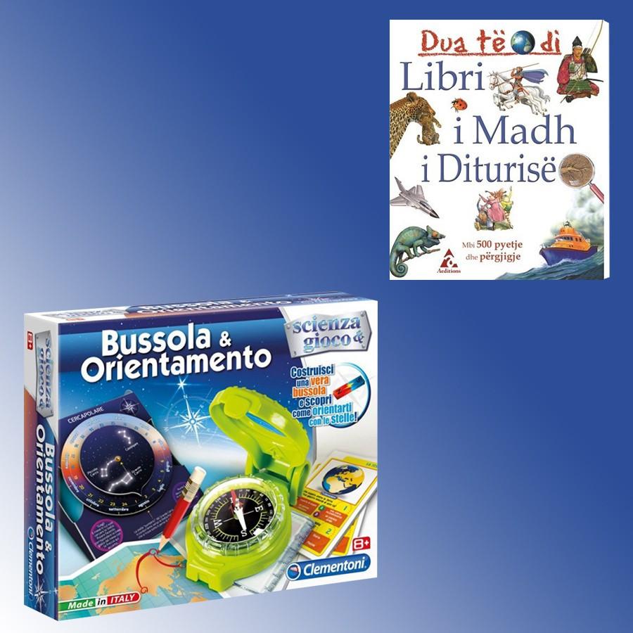 Busull orientuese Clementoni + Libri I Madh i Diturise