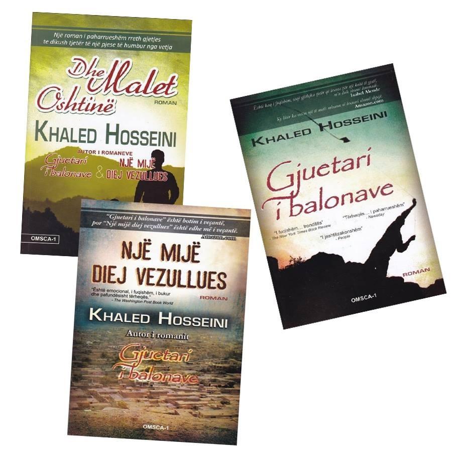 Set 3 libra, - Magjia e Khaled Hosseini ne biblioteken tende