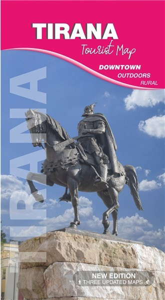 Tirana Tourist Map, DOWNTOWN, OUTDOORS, RURAL