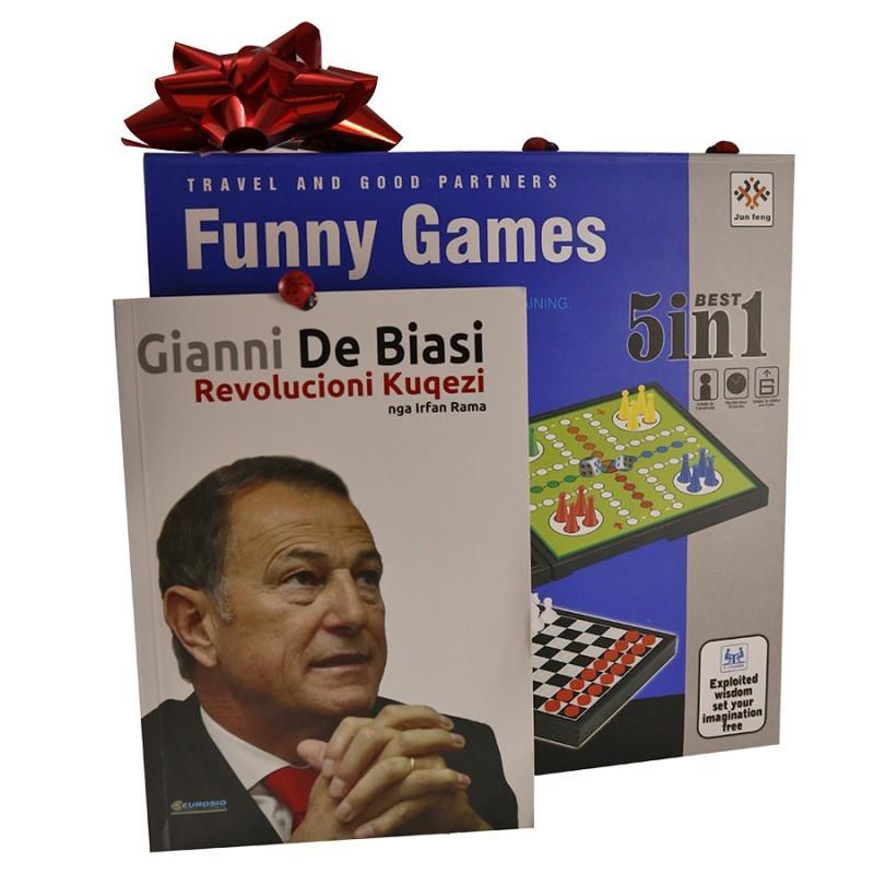 Set libri Gianni De Biasi dhe lojë tavoline 5në1