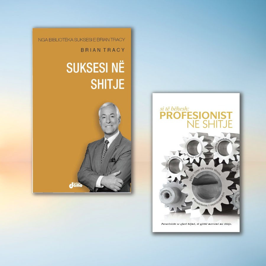 Shitjet ne biznes sipas Brian Tracy dhe Vasil Nacit – set me 2 libra