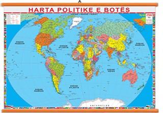 Bota harte fizike dhe politike 70x100cm