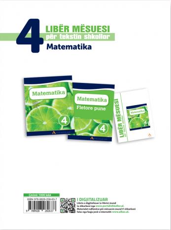 Liber mesuesi per tekstin shkollor Matematika 4