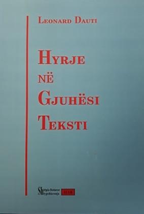 Hyrje ne gjuhesi teksti