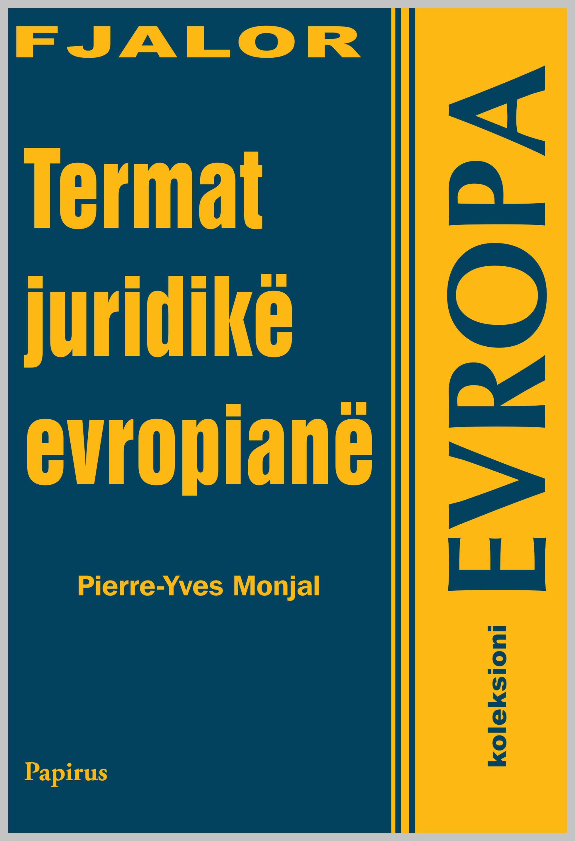 Fjalor Termat juridik europiane