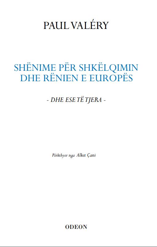 Shenime per shkelqimin dhe renien e Europes