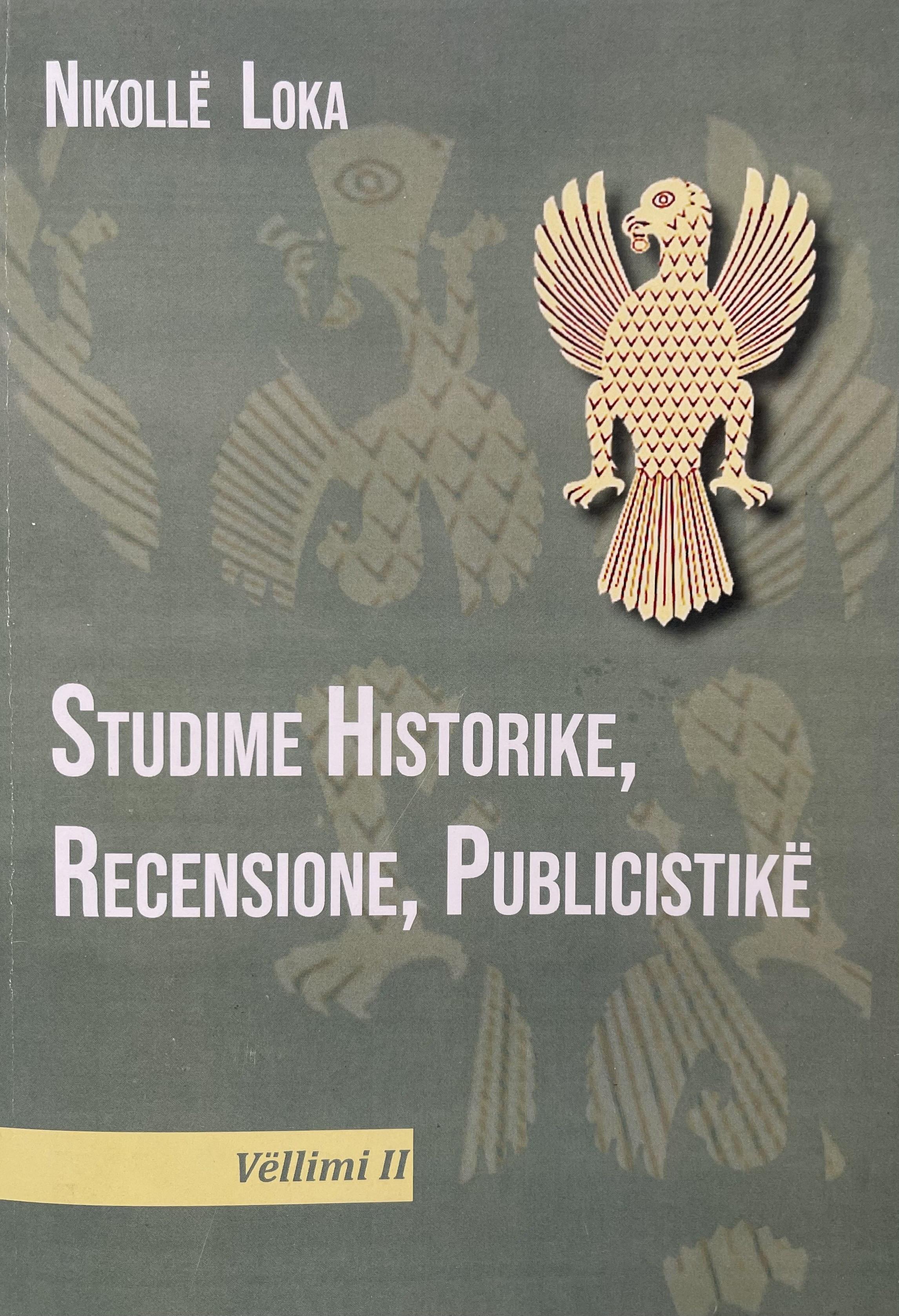 Studime historike, recensione, publicistike