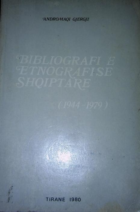 Bibliografi e etnografise shqiptare