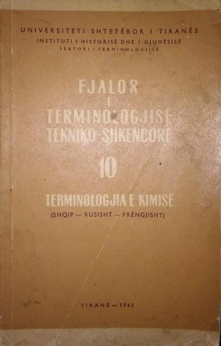 Fjalor I Terminologjise Tekniko-Shkencore (Shq-Ru-Fre)