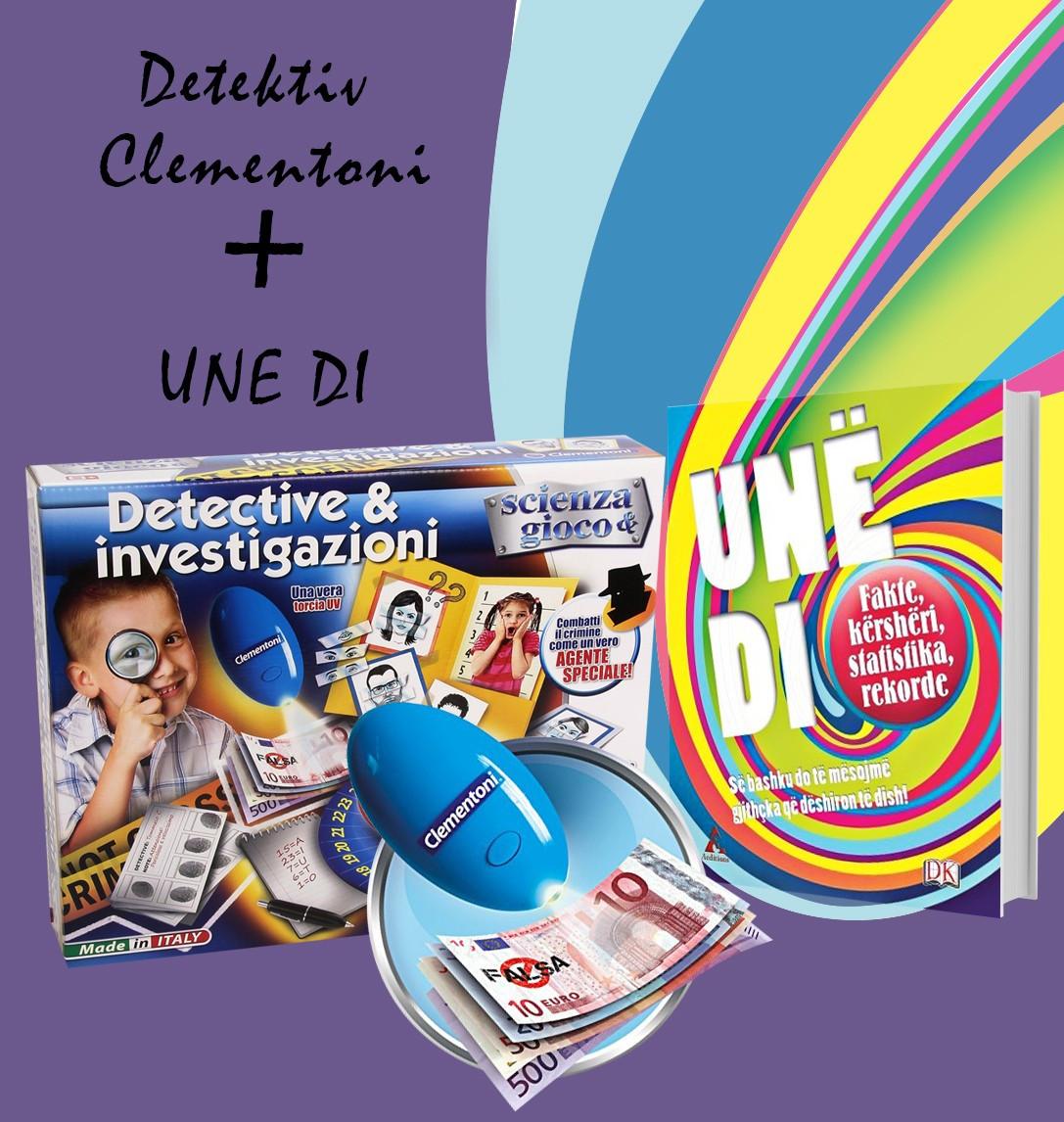 """Set Detektive Clementoni + Libri """"Unë di"""""""