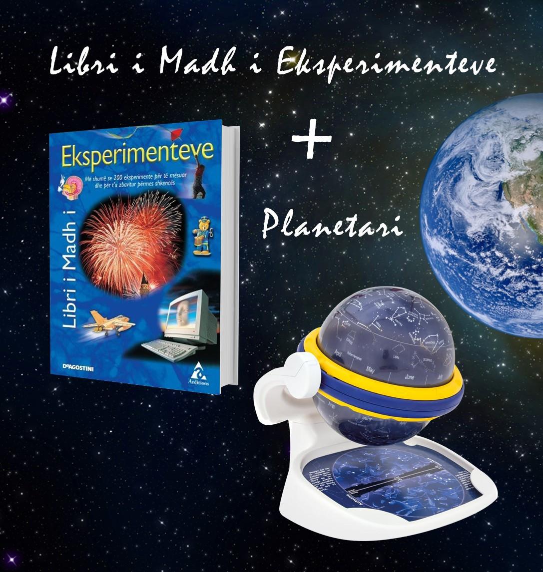 """Set Planetari Clementoni + """"Libri i madh I eksperimenteve"""""""