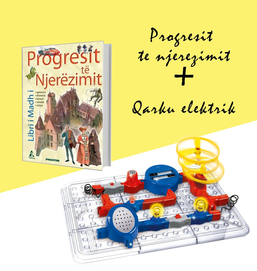 "Set Qarku elektrik + Libri ""Progresi i njerëzimit"""