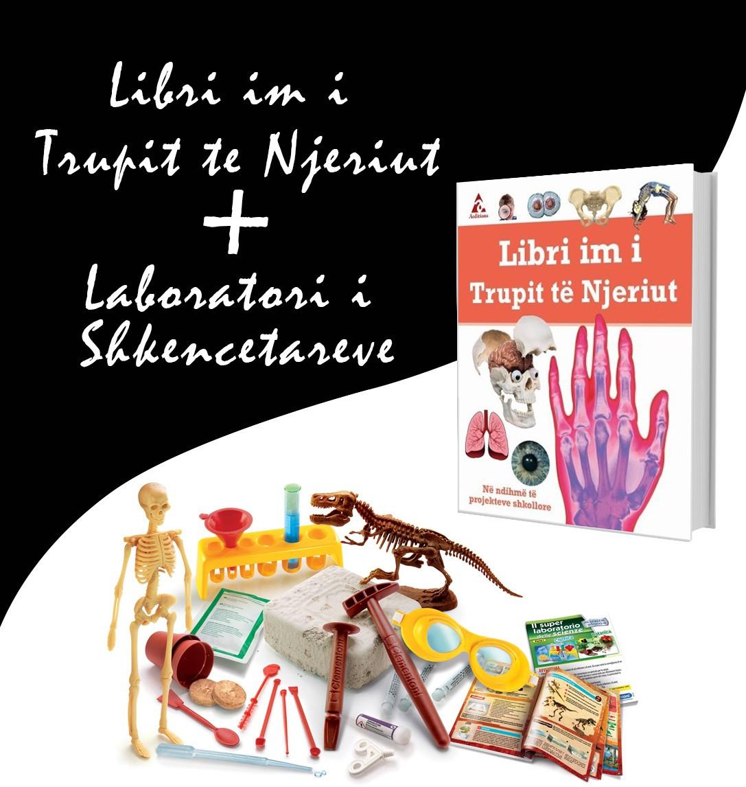"""Set Laboratori i shkencëtarëve + Libri """"Trupi i njeriut"""""""