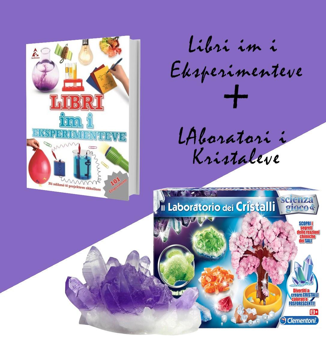 """Set Laboratori i kristaleve + """"Libri im i eksperienteve"""""""