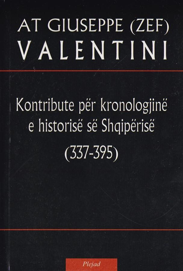 Kontribute per kronologjine e historise se Shqiperise (337 – 395)