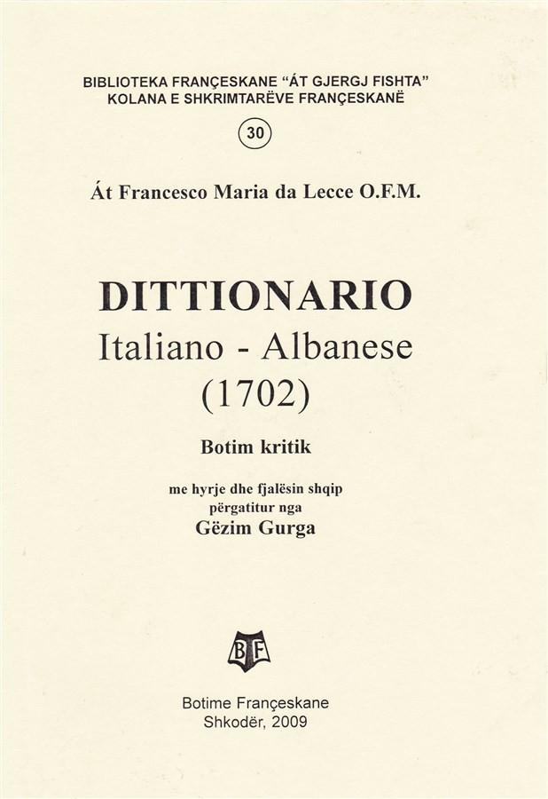 Dittionario italiano-albanese 1702