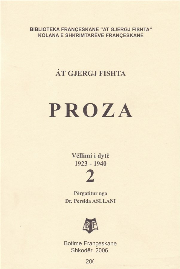Proza, vëll. II, (1923-1940)