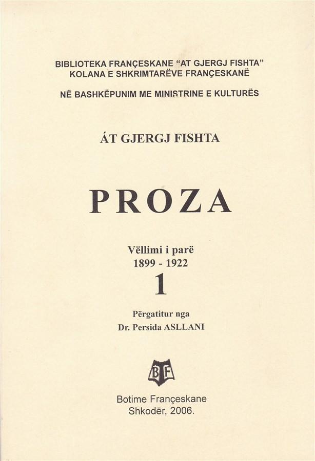 Proza, vëll. I, (1899-1922)