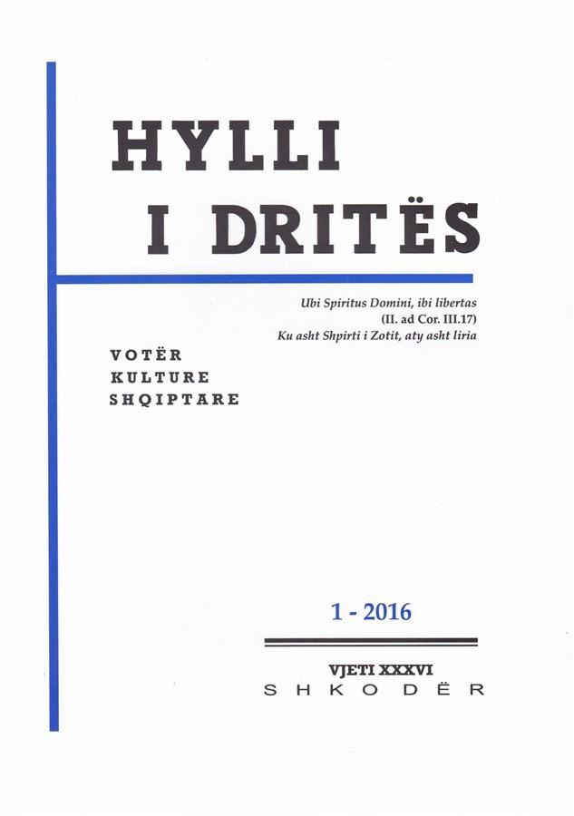 Hylli i Drites, nr. 1 - 2016