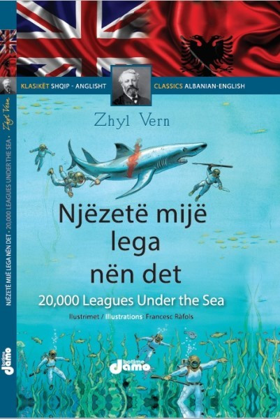 Njëzetë mijë lega nën det Shqip - Anglisht